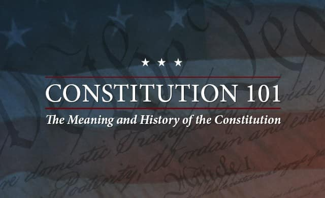 Constitution 101 Course at Hillsdale College