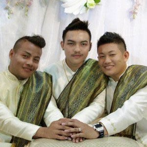 Three Thailand men marry each other